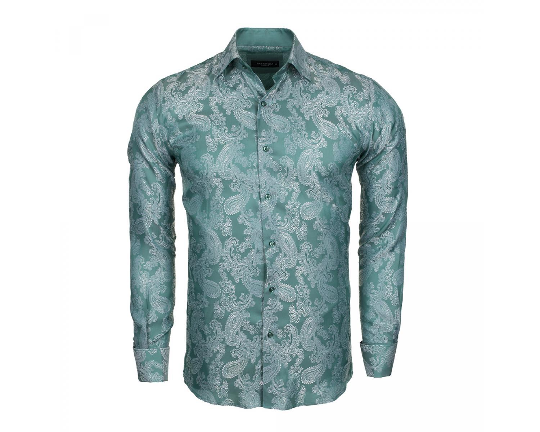 d747bb25 Green Silk Shirt Mens - DREAMWORKS