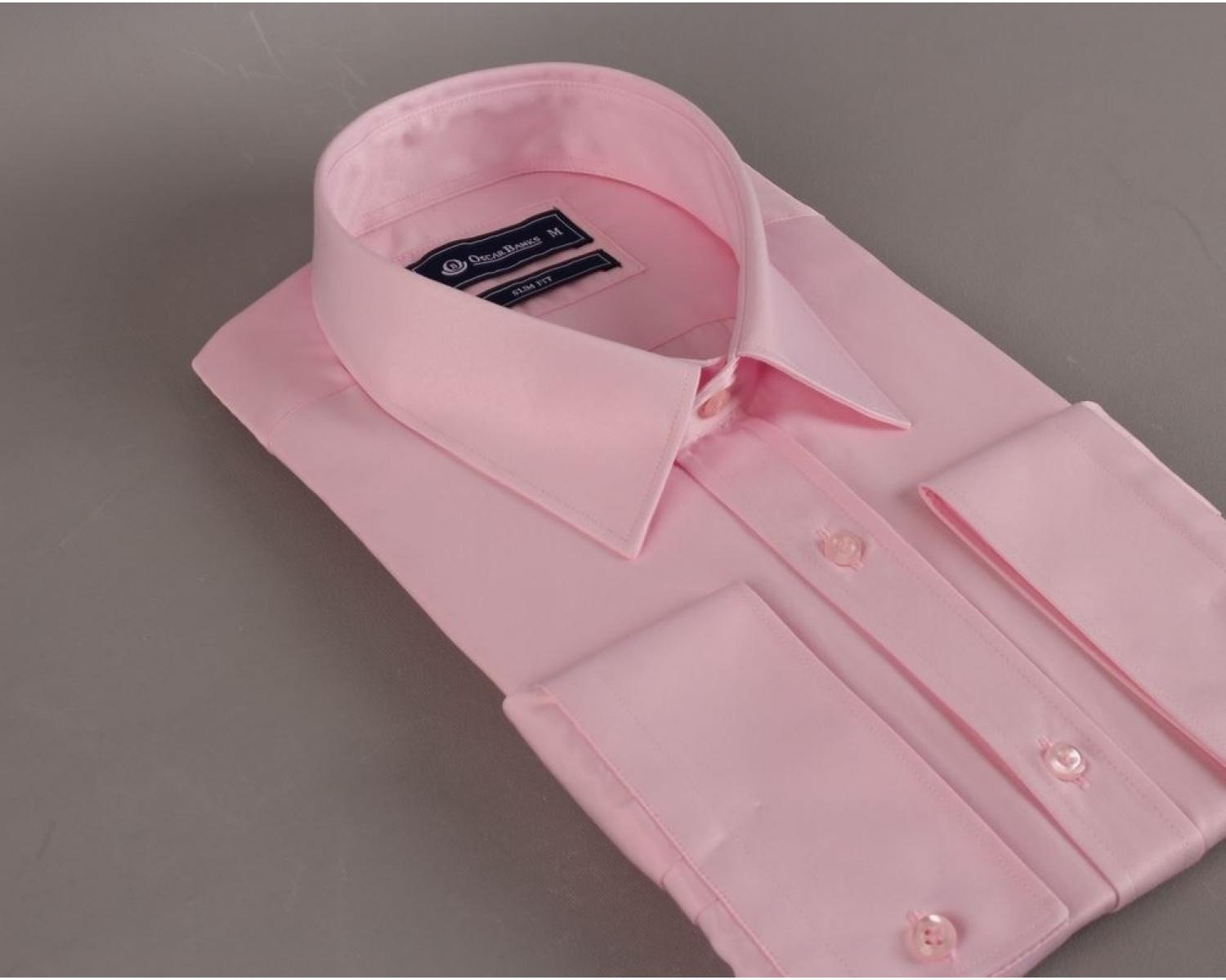 e8270578 SL 5941 Men's pink plain long sleeved shirt - Quality Designed Shirts
