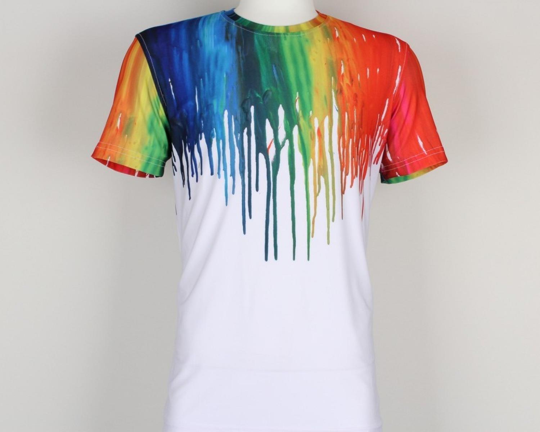 12713d8b Men's colorful splatter paint 3D T-shirt - Quality Designed Shirts