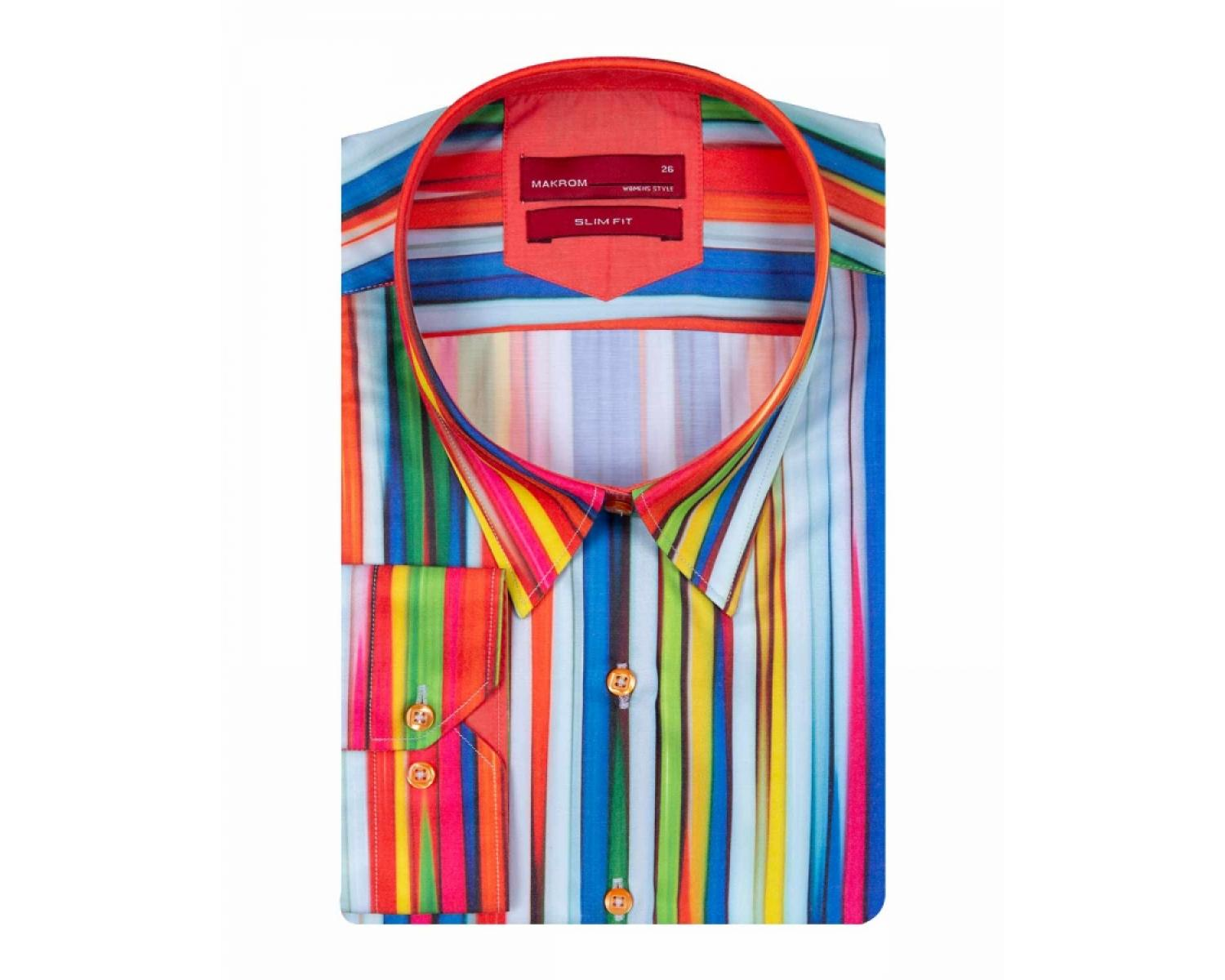 c45015c512 LL 3275 Women's multi color striped shirt - Quality Designed Shirts
