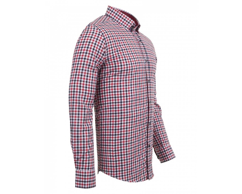 d802f7c9fb7 SL 5849 Men s red check print cotton long sleeved shirt - Quality ...