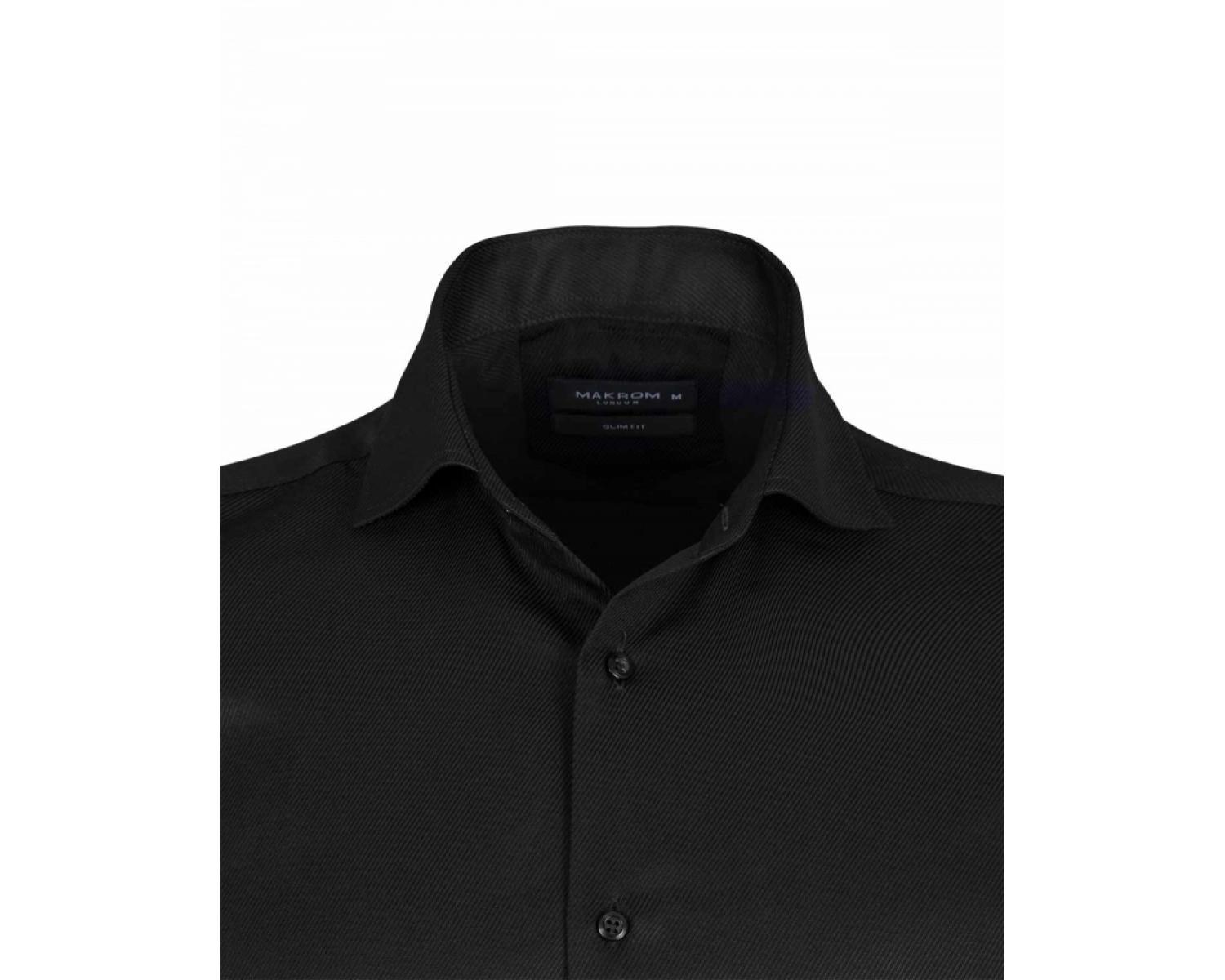 6901b7dfbdc ... SL 6144 Мужская рубашка с микротекстурой и двойными манжетами под запонки  Мужские рубашки