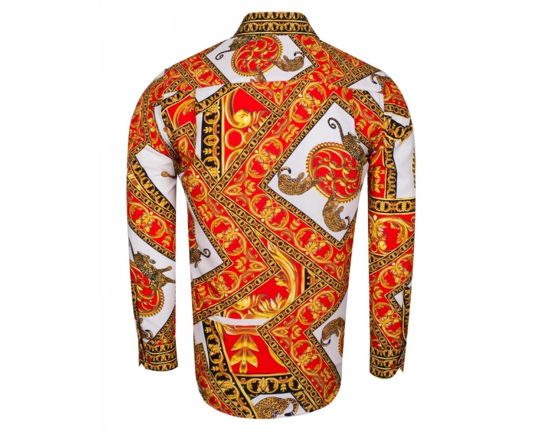 a618d8b614af77b SL 6552 Рубашка с принтом в стиле Барокко Versace - Рубашки на все ...