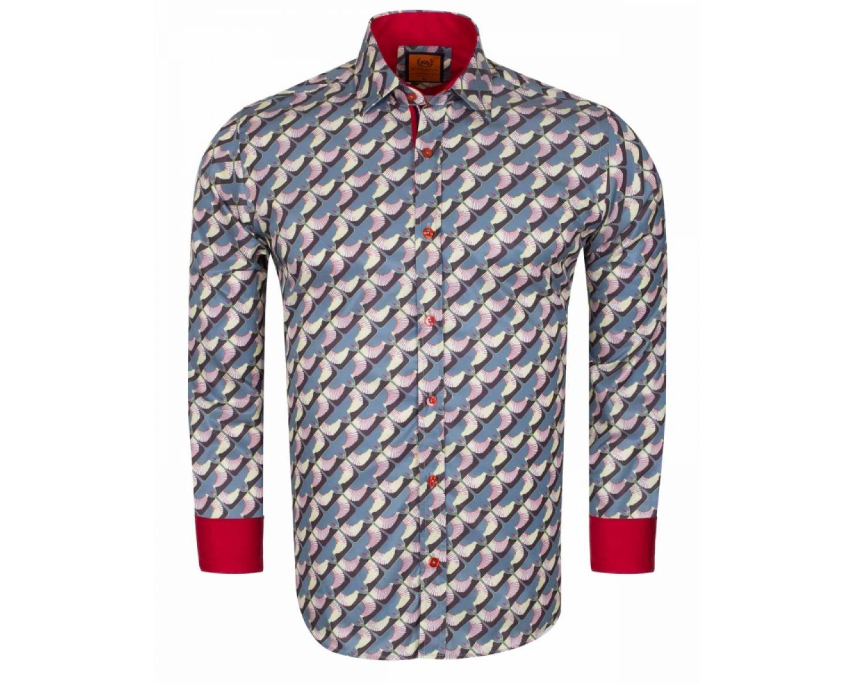 6fa8e06dba11672 SL 6614 Дизайнерская рубашка с необычным принтом - Рубашки на все ...